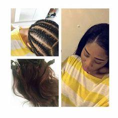 Hairstyle- weaving / Haarverlängerung mit Haartressen