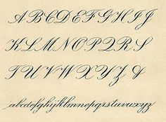 copperplate-alphabet calligraphy style. Gorgeous site!