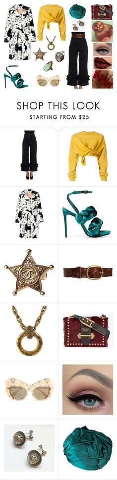 """""""&"""" by ohbabyimrachel ❤ liked on Polyvore featuring VIVETTA, Ottolinger, Shrimps, Marco de Vincenzo, Chanel, Pepe Jeans London, Prada, Dolce&Gabbana and Christian Dior"""