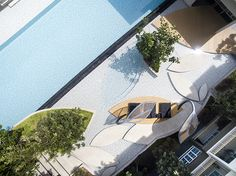 ideas for rooftop garden architecture swimming pools Pool Landscape Design, Lanscape Design, Garden Design, Rooftop Patio, Garden Architecture, Residential Architecture, Traditional Landscape, Garden Pool, Garden Paths