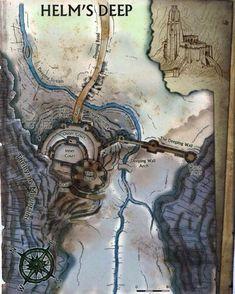 Helm's Deep map, Lord of the Rings Legolas, Thranduil, Gandalf, Lotr, Hobbit Tolkien, O Hobbit, Fantasy Map, High Fantasy, Fellowship Of The Ring