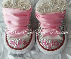 Swarovski Crystal Design Princess Converse by PurseSueYourDream
