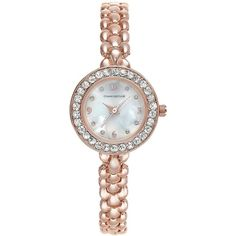 Charter Club Rose Gold-Tone Bracelet Watch 26mm, (1.670 RUB) ❤ liked on Polyvore featuring jewelry, watches, rose gold, watch bracelet, charter club, rose gold tone jewelry, dial watches and charter club watches