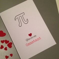 You Are My Constant I love you Pi Card Math by DropSconeDesigns Happy Anniversary Cards, Boyfriend Anniversary Gifts, Diy Gifts For Boyfriend, Boyfriend Birthday, 18th Birthday Cards, Simple Birthday Cards, Valentine Day Cards, Love Cards, Diy Cards