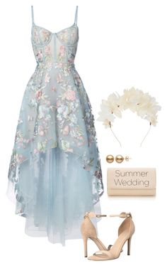 """Senza titolo #6564"" by waikiki24 ❤ liked on Polyvore featuring Notte by Marchesa, GUESS and Lizzie Fortunato"