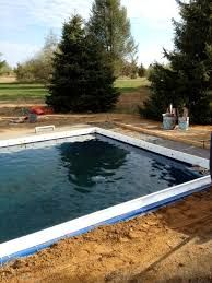 Image result for drop in fiberglass pool forms