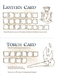 Lighting Cards - Dungeons and Dragons