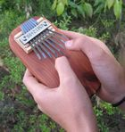 This is a beautiful sounding thumb piano for children.