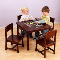 Lipper Childrens Square Table and Chair Set - 514C   Products ...