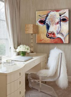 """""""Cow in color"""" инсталляции в современном декоре (спальня, будуар)."""
