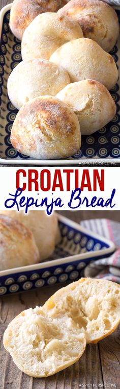 Croatian Lepinja Bread Croatian Lepinja Bread – This simple and authentic bread recipe makes small sandwich loaves of bubbly slightly sweet Croatian flatbread! via Sommer Bread Recipes, Cooking Recipes, Healthy Recipes, Croatian Recipes, Croatian Cuisine, Bosnian Recipes, Bread And Pastries, Bread Rolls, Yeast Rolls