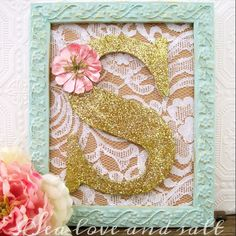 Seafoam Green and Gold Nursery Decor Baby Girl by SeaLoveAndSalt