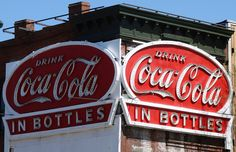 How i wished we could drink it from glass bottles again, the taste of Coca-Cola was so much better then! richmond va coca cola sign - Google Search
