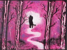 original painting love couple romantic gift nature homedecor pink gift for her anniversary by FloralFantasyDreams Gloss Spray Paint, Spray Painting, Painting Love Couple, Original Artwork, Original Paintings, Superhero Wall Art, Valentines Gifts For Her, Pink Gifts, Fantasy World
