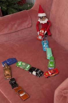 Elf on the Shelf playing pranks - 25 Elf On The Shelf Ideas from LivingLocurto.com