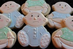 Baby Shower Cookies, Baby Girl, Baby Shower Favors, Baby Boy, Custom Cookies, Gender Reveal Cookies, Cookie Favors, Cookie Gifts by 4theloveofcookies on Etsy https://www.etsy.com/listing/175124050/baby-shower-cookies-baby-girl-baby
