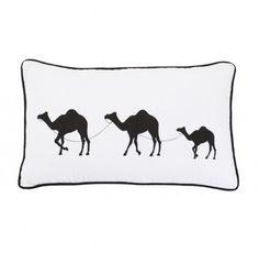 Camel Train #linenandmoore #cushion