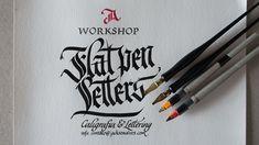 Workshop Flat pen Letters by Jackson Alves