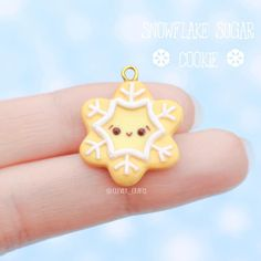#kawaii #charms #polymer #clay #snowflake #sugar #cookie #charm