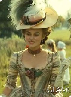 The Duchess (2008) by Saul Dibb with Keira Knightley as Georgiana, Duchess of Devonshire. Costume design: Michael O'Connor