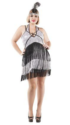 caf11a8e3781 Starline Plus Size Boardwalk Flapper Costume Women s Costume - Nastassy  1920s Flapper Costume