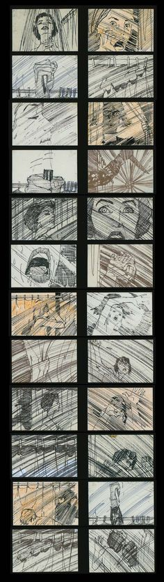 All movies start with a story board. This is the story board from the movie Psycho