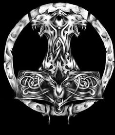 Thor's hammer / wolf <33