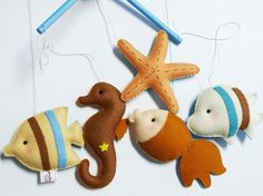 #felt sea life #mobile inspiration