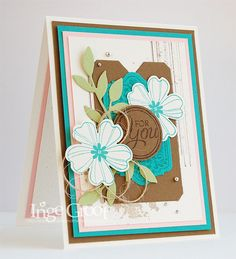Stampin' Cards And Memories, flower shop bundle, pansy punch, chalk talk, little leaves, gorgeous grunge