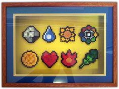 Shadow Box Pokemon Perler Bead Badges