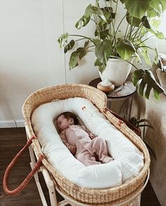Snug | Baby nests fit perfectly in our Moses baskets to keep bub extra cosy   #mosesbasket #dockatot .