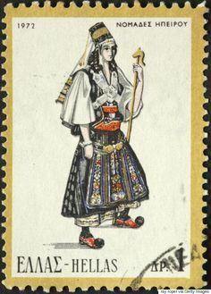 Από την Κρήτη ως την Ήπειρο: Οι παραδοσιακές ελληνικές φορεσιές που έγιναν γραμματόσημα και ταξίδεψαν σε ολo τον κόσμο | HuffPost Greece Oracle Of Delphi, Stamp Auctions, Creta, First Day Covers, Picture Postcards, Stamp Collecting, Costumes For Women, Postage Stamps, Greece