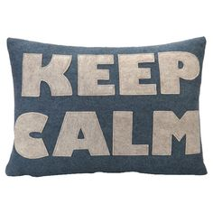 Hemp and organic cotton throw pillow with a recycled felt applique.    Product: PillowConstruction Material: Hemp and ...