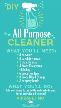 Diy cleaners 432275264234574345 - Plant Therapy Essentials: All Purpose Cleaner DIY Source by makrosie Safe Cleaning Products, Cleaning Spray, Household Cleaning Tips, Cleaning Recipes, Cleaning Hacks, Cleaning Supplies, Deep Cleaning, Cleaning Agent, Household Cleaners