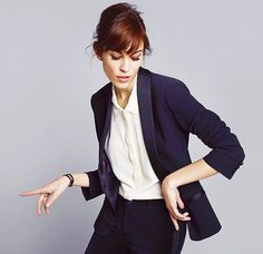 alexa chung for agatha paris business style Work Fashion, Fashion Beauty, Paris Fashion, Black And White Outfit, Black White, White Tuxedo, Alexa Chung Style, Cooler Style, Mode Shoes