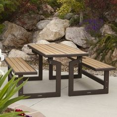 Lifetime Products Wood Grain Convertible Bench, As Shown