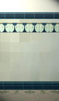 Oooh!  Art nouveau tiles a la posh Glasgow tenements...