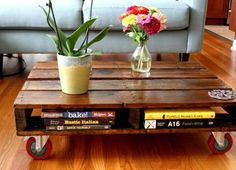 table-basse-en-palette-salon-jardin-fleurs-livres