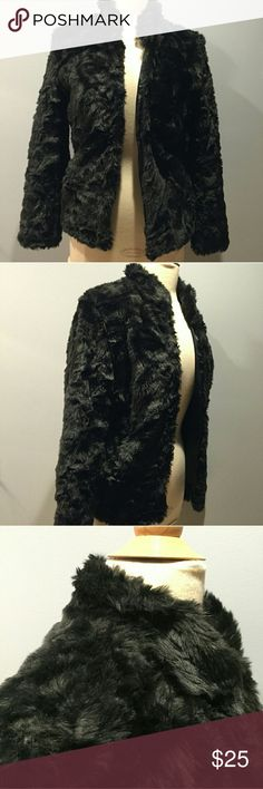Faux Fur Coat from H&M Faux fur from H&M in excellent condition. Dress it up or dress it down, you'll look great for whatever occasion. H&M Jackets & Coats