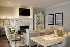 Admirable Living Room Dining Room Combo Ideas - Page 18 of 38 Small Living Dining, Living Dining Combo, Kitchen Dining Living, Small Living Rooms, Small Living Room Kitchen Ideas, Modern Living, Dining Rooms, Living Room Furniture Layout, Dining Room Design