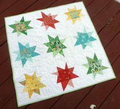 Charm Pack Wonky Stars Quilt and seven other charm pack quilts to bust your stash
