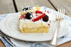 Let's Dish Recipes: Fruit and Pudding Cake.....for Memorial Day or July 4th.