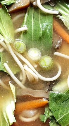Chinese Chicken and Vegetable Soup - everyday ingredients comprise this mouthwatering soup