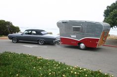 1956 Scotsman Trailer [1964 Olds Cutlass tow] Larry & Ellen Mick Fullerton, California