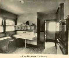 "A real tile floor is a luxury from ""Interiors Beautiful"" by M.L. Keith, dated 1922."