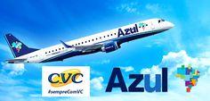 Passagens aéreas CVC com voos Azul a partir de R$ 110 #passagensaereas #cvc #azul