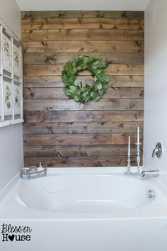 Shiplap wall stained