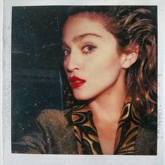 """Newly released Madonna polaroid taken on set of Desperately Seeking Susan, 1984 """