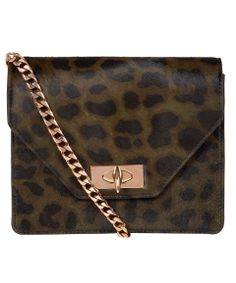 ♥ Givenchy leopard print ponyskin shoulder bag is a modern take on the evening bag, leopard print and rose gold freshen up this boxy clutch. Liberty.co.uk