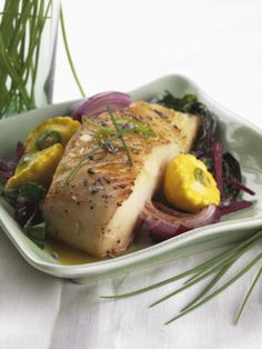 Grilled Sea Bass with Garlic Butter - Grilled Fish Recipe